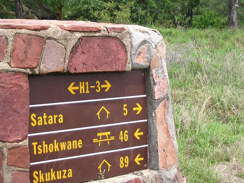 Oops - sorry - a signpost in the Kruger Park