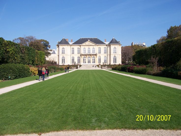 The Musée Rodin from its own garden. The building was more or less a private residence, the Hôtel Biron, until the museum opened there in 1919. One of my absolute favourite sites in Paris.