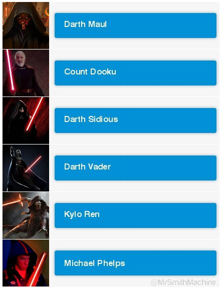 @MrSmithMachine - Who is your favourite Sith?