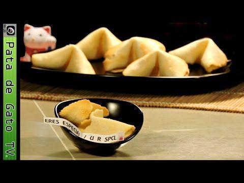 Como hacer galletas de la Suerte, paso a paso / How to make fortune cookies, step by step - YouTube