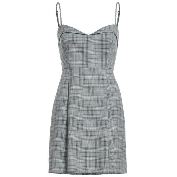 Clothing Plaid Spaghetti Strap Dress (2.910 RUB) ❤ liked on Polyvore featuring dresses, grey dress, gray dresses, tartan dress, grey sleeveless dress and grey plaid dress