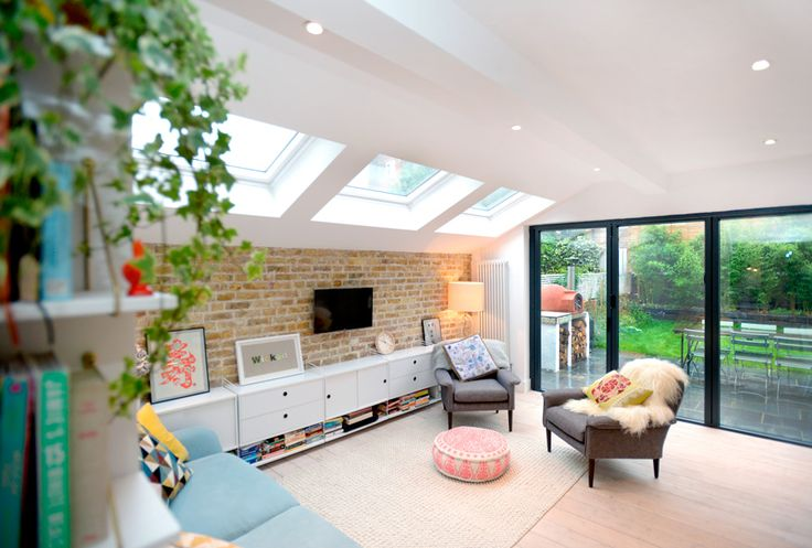 Stroud Green, N5, London, Side Return Extension, Kitchen Extension, Ground Floor Flat Extension, Bi-Fold Doors, Kitchen, Rear Extension, Roof-lights, Pitched Roof, Side Return Ideas, Kitchen Extension Ideas, Dining Area Ideas, Living Area Ideas, Open Plan Living, Daylight