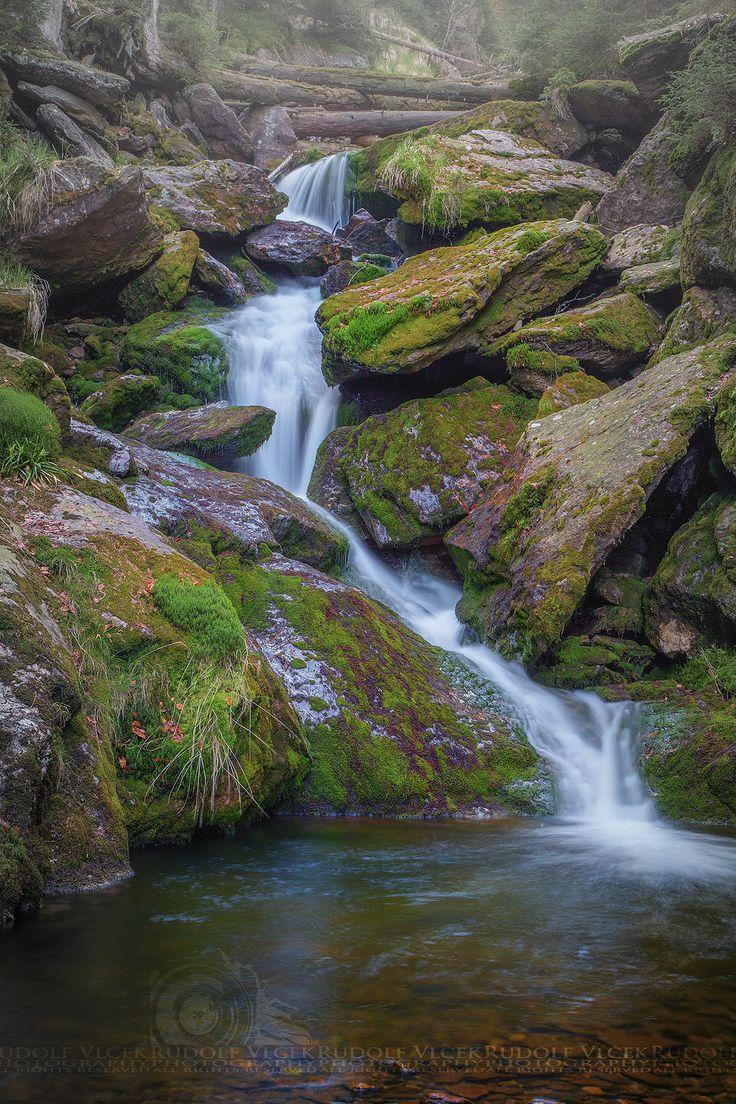 Waterfall in Šumava National Park_ Czech Republic