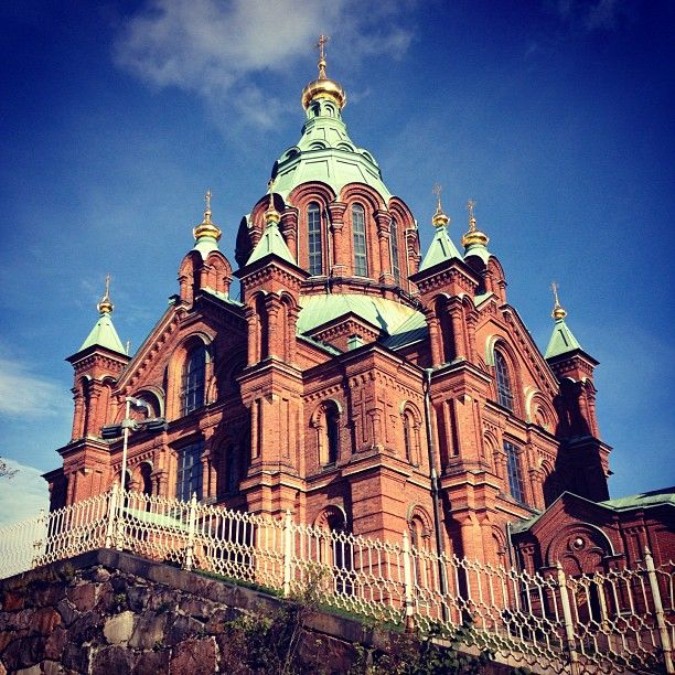 Uspenskin is an ornate cathedral offering a great scenic lookout.