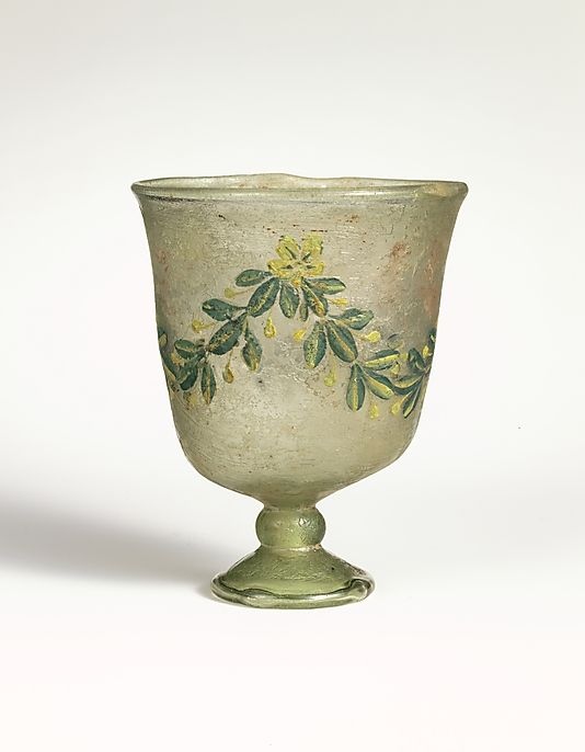 Roman Glass Goblet -- Late Imperial -- 4th Century CE -- Metropolitan Museum of Art