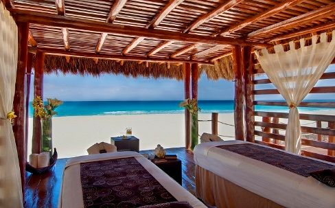 cabanas on the beach | Spa Treatment Cabana on the Beach at Iberostar Cancun Resort, Mexico
