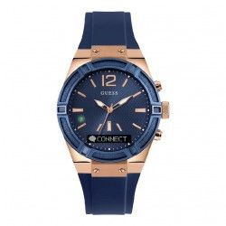 RELOJ GUESS MUJER CONNECT ACERO IP ROSA CAUCHO AZUL-C0002M1