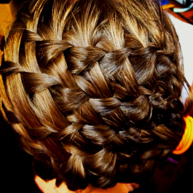 Checkerboard waterfall braid<3