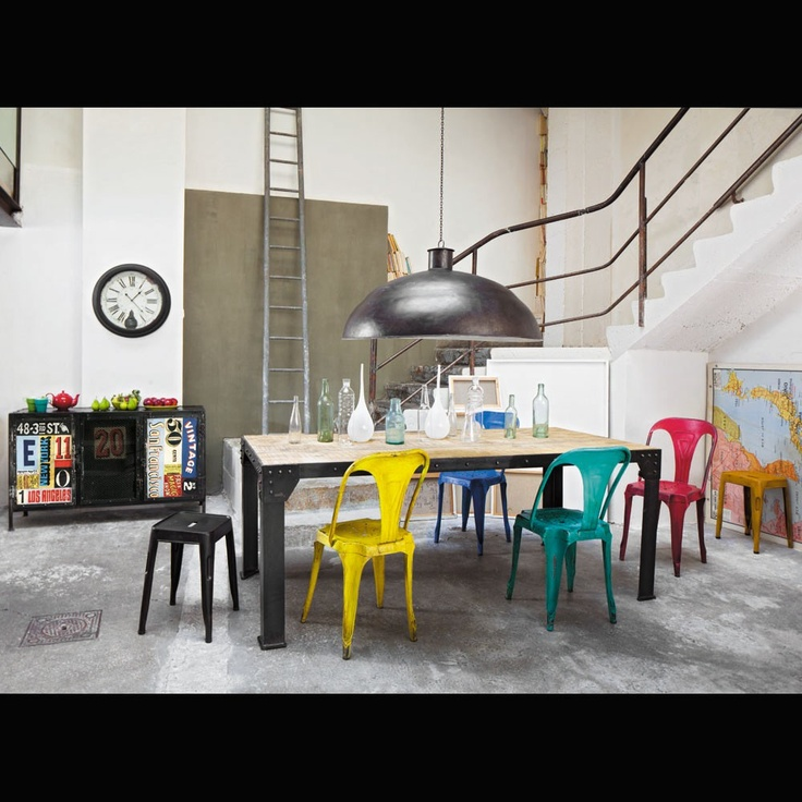 Love multiple colored chairs