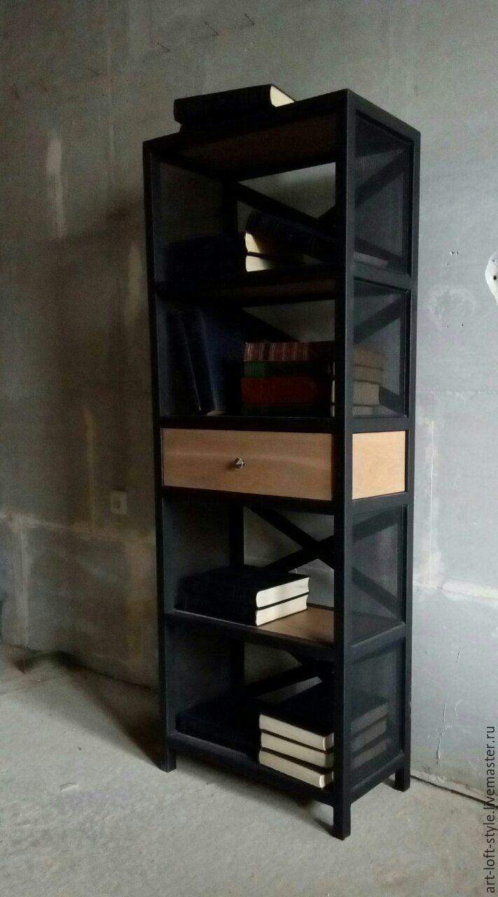 Купить Этажерка лофт. Дуб и металл. - этажерка, этажерка лофт, этажерка в стиле лофт