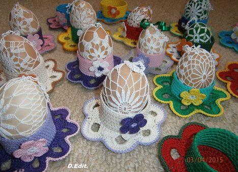 lace easter eggs by Dudás Edit-csipke díszítésű tojások Dudás Edittől