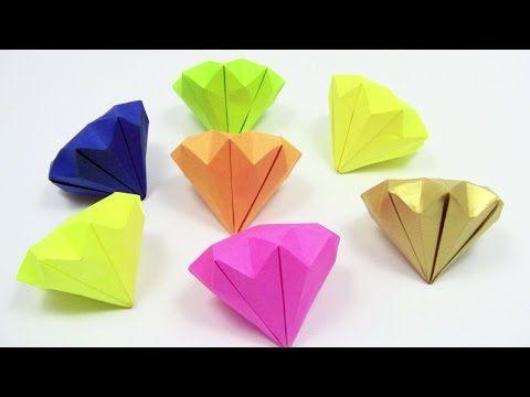 (25) Origami Diamond EASY / Simple Detailed Instruction - Origami easy tutorial - YouTube
