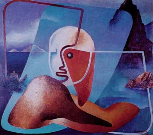 Ritratto di Marinetti poeta del Golfo della Spezia - Enrico Prampolini