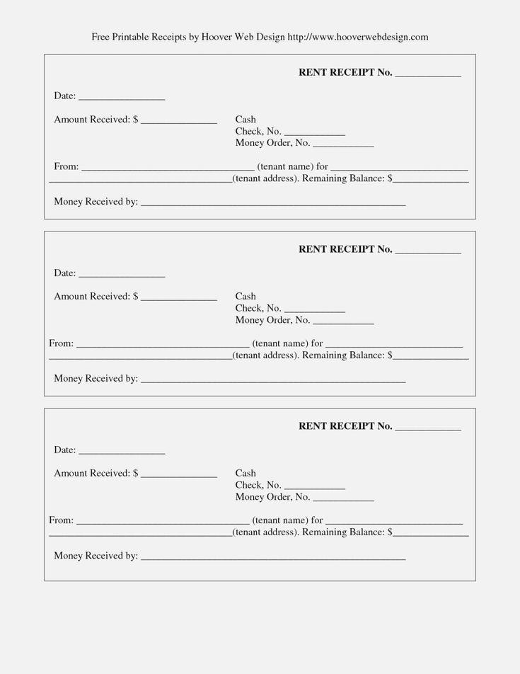 Unique Printable Receipts Free receipt template
