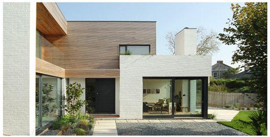 Kathryn Tyler (Grand Designs) beautiful painted bricks and cedar cladding