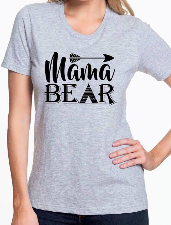 Mama Bear Tee T-shirt Tribal Arrow Mom Tee
