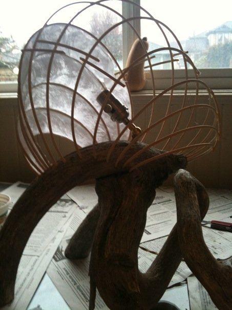 Oliphant : Moderne et rustique Lightsculpture par lightsculpture