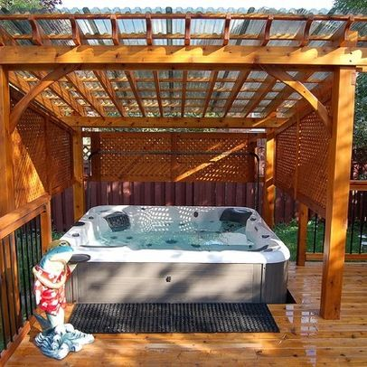 Outdoor Hot Tub Design Ideas, Pictures, Remodel, and Decor - page 6