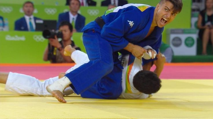 VIDEO:  Huge ippons, huge backflip from 66kg judo champ Fabio Basile:    In the men's 66kg judo competition at the Rio Games, Italy's Fabio Basile pulled off one of the day's biggest surprises when he romped through the field with a series of big throws on his opponents en route to a gold medal. He also did not hold back his emotions, celebrating his final victory in emphatic fashion with a backflip.  -  August 8, 2016
