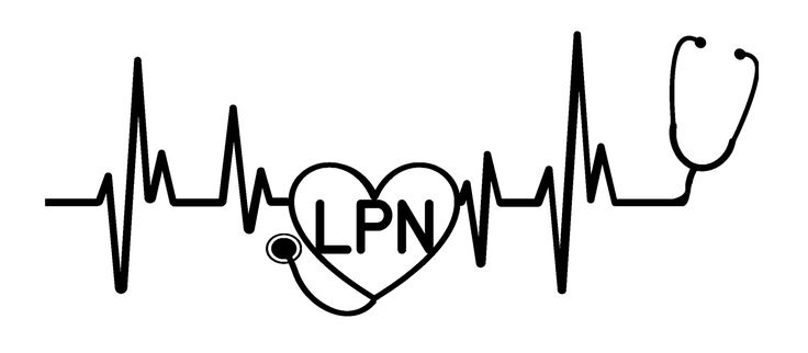 Heartbeat Lpn Vinyl Graphic Decal Nursing Graduation