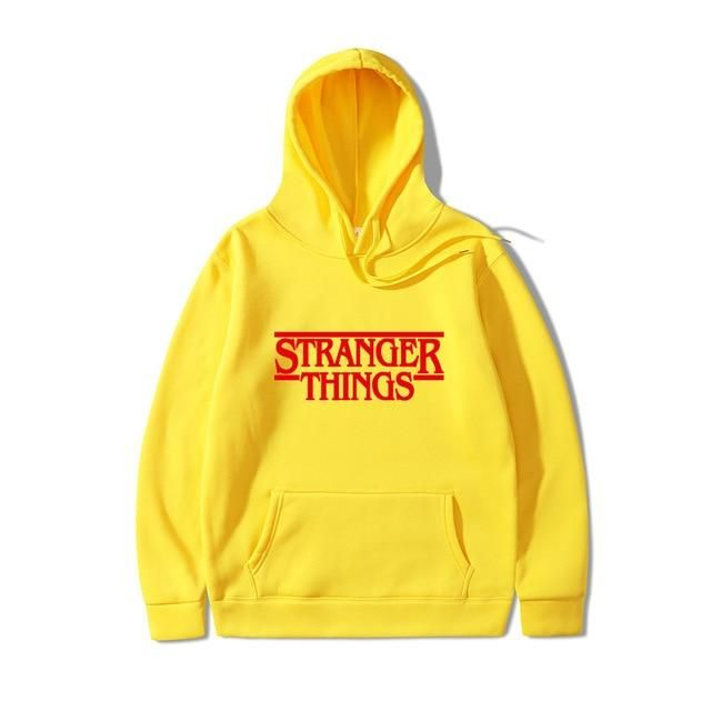 2019 Trendy Faces Stranger Things Hooded Mens Hoodies And