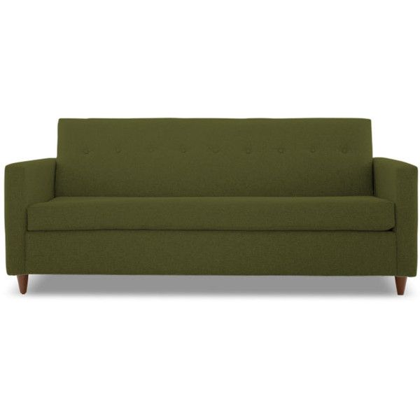 Sectional Sofa Joybird Korver Mid Century Modern Green Sleeper Sofa CAD liked on Polyvore