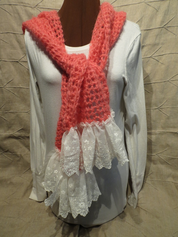 Spring weight, crochet with vintage lace
