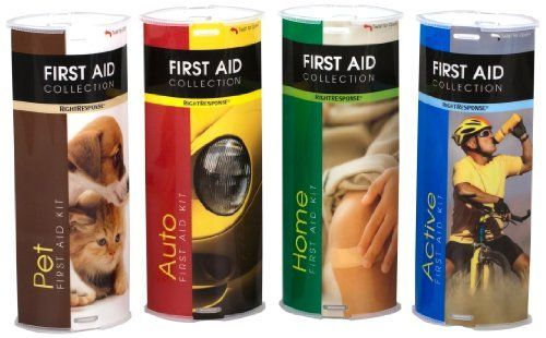 RightResponse First Aid Collection, Home, Active, Auto, Pet by RightResponse. $29.99. The new RightResponse First Aid Collection Tubes are conveniently sized and specifically designed for what you need, when you need it. A new economical way for customers to prepare for the unexpected whether at home, outdoors, in a vehicle, or when playing with their pets. A family of handy usage specific first aid kit tubes for the home, active lifestyle, automobile, and pets. ...