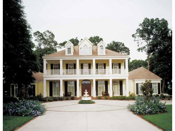 Neoclassical Plantation House Plan House Blueprints A