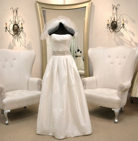 Two Piece Wedding Dress ~ Couture Wedding Skirt ~ Strapless Bridal Bustier ~ www.CouturesbyLaura.etsy.com