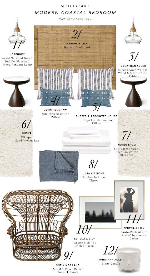 MOODBOARD: Modern Coastal Bedroom | My Paradissi | Bloglovin'