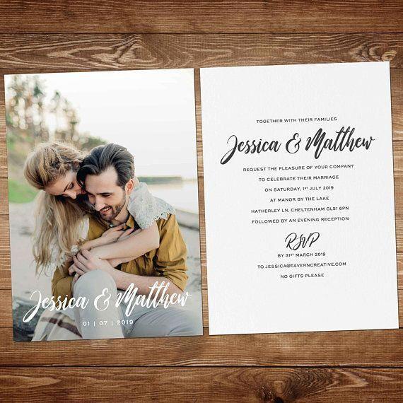 Photo Invitation Wedding Invitations Picture Modern Wedding Invitation Cheap Wedding Invitat Desain Undangan Perkawinan Kartu Pernikahan Undangan Perkawinan