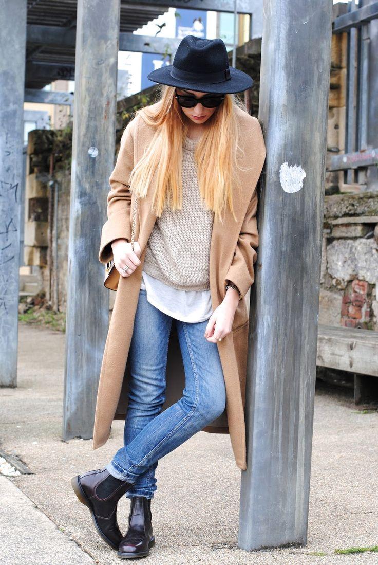 Dr Marten Flora Boot (c/o) | Mango Coat | Zara Tee | Celine Sunnies (Similar) | HM Fedora | DVF Bag (Similar)...