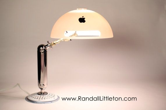 This lamp is made from an old iMac G4 ... I need this in my office.