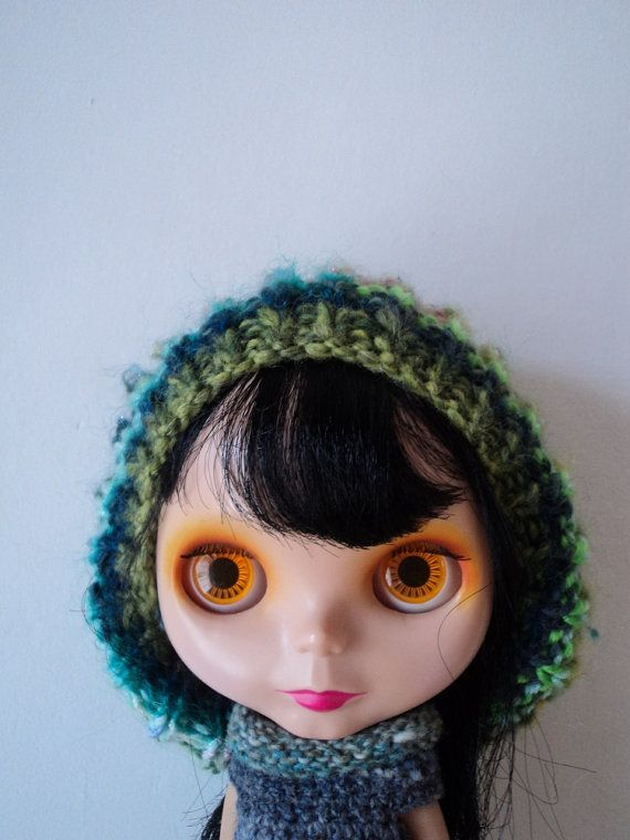 Green Crazy Yarn Oversize Jellyfish Hat for Blythe by Keur on Etsy, $25.00
