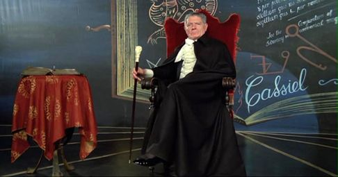 Alain Cuny nel ruolo di Woland - da: Il Maestro e Margherita. un percorso per immagini /5: Magia nera e smascheramento