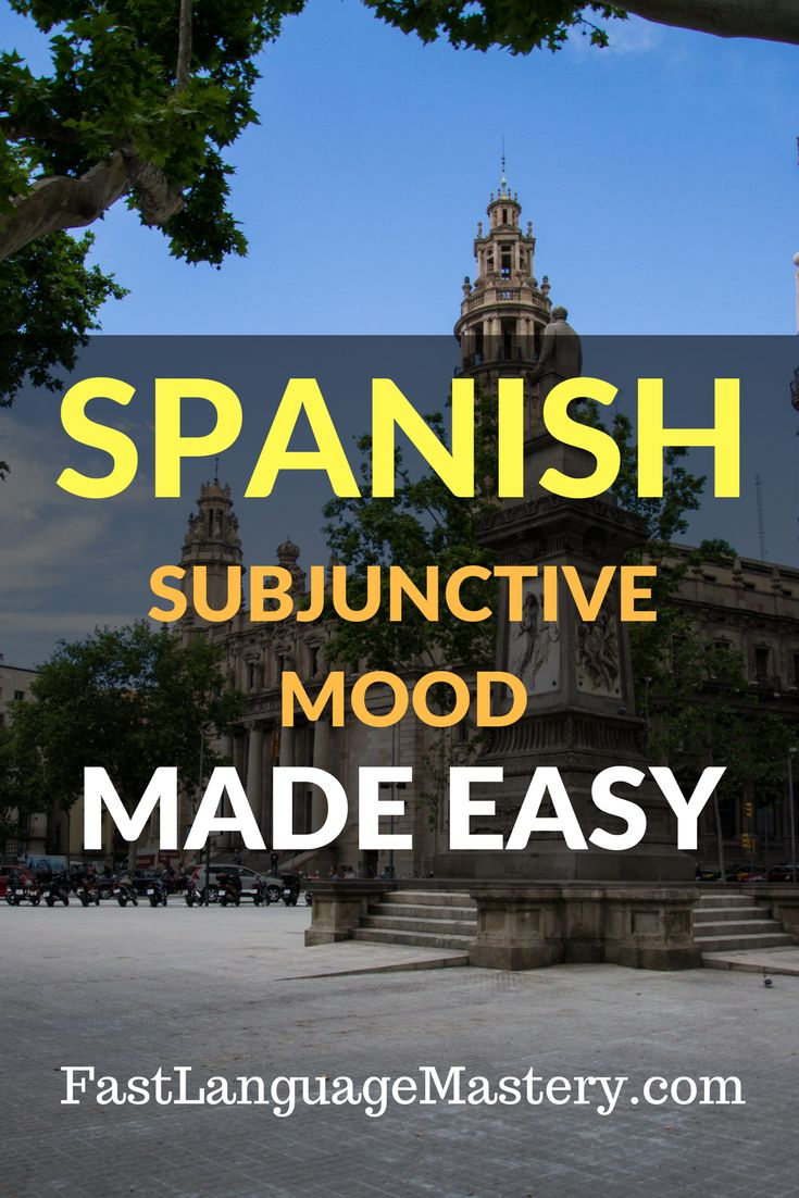 Spanish subjunctive mood