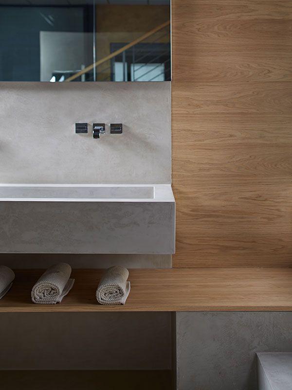 microtopping idealwork lavello bagno charcoal legno