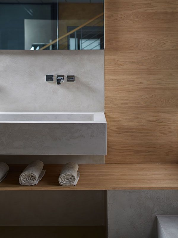 microtopping idealwork sink bathroom charcoal wood