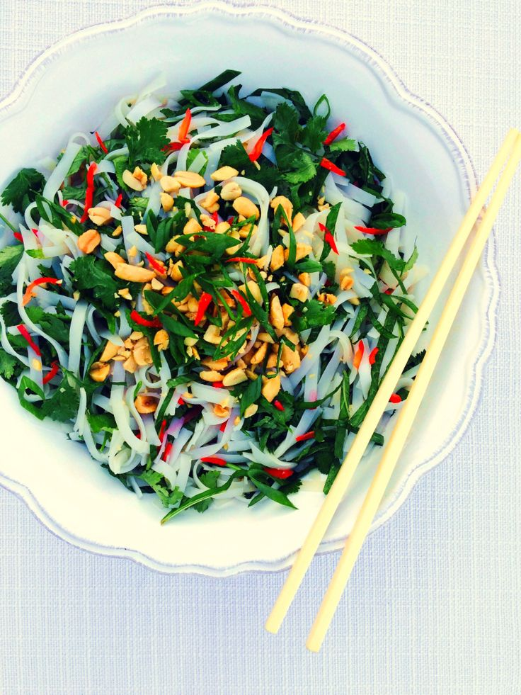 Asian Rice Noodle and Fresh Herb Salad Recipe - Shine Dining