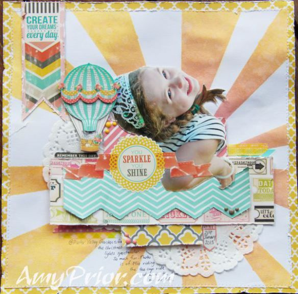 You sparkle you shine by Amy Prior using @mymindseyeic #mymindseye @hkswapp #heidiswapp #colorshine & #stencil #ombre #scrapbooking #mixedmedia #spraypaint #watercolor