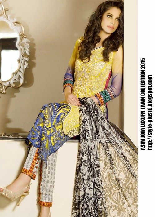 AJL-6B From Asim Jofa Luxury Lawn Collection 2015