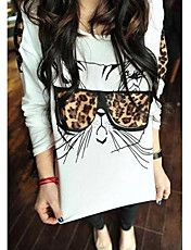 Moda Mujer Glass Cat Blusa – USD $ 11.19