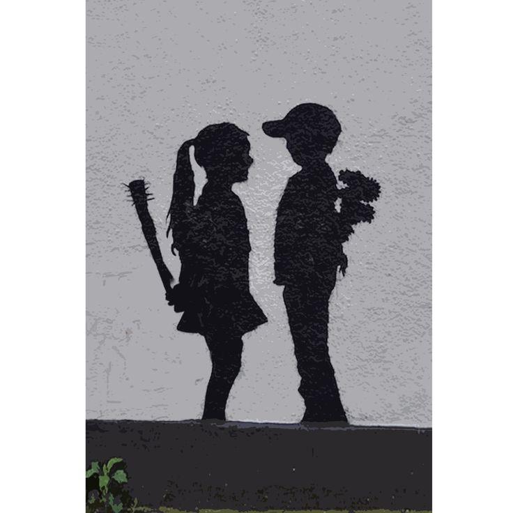 Boy Meets Girl Banksy   SCD Art   Pinterest