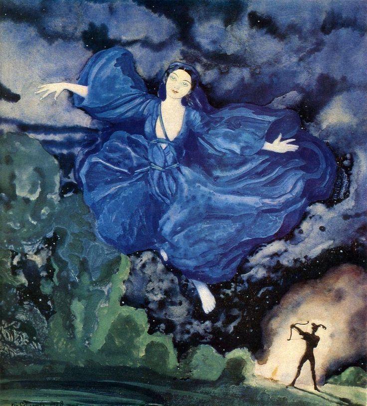 The Athenaeum - Blue Bird (Konstantin Somov - No dates listed)