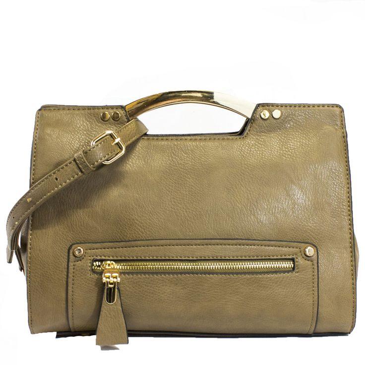 Birklie Structured Satchel Handbag in Tan | Discount Handbags & Purses | Handbag Heaven #handbagheaven