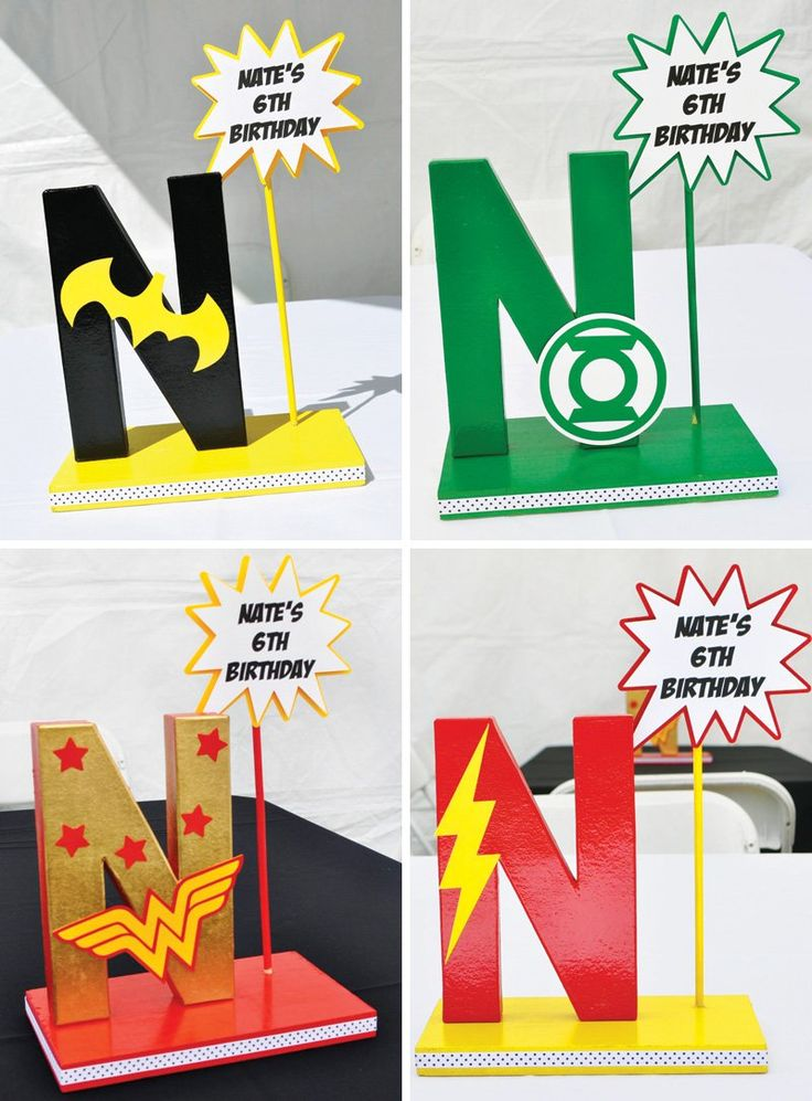 DIY Super Hero party decorations
