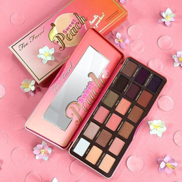 UPDATE MARCH 17TH Online  @TooFaced is about to launch a few AMAZING NEW Products  1. The NEW #BetterThanSexWaterproof #MASCARA  $23  2. Repromoted #RoyalOil - Coconut Oil Body #Bronzer $35  3. #MascaraMeltOFF - Cleansing Oil Waterproof Mascara Dissolver $20  4. NEW #SweetheartsBronzer - Sweet Tea $30 / #SweetheartsFlushBlush - Sparkly Bellini NEW Peachy Shade $30  5. #TFSweetPeach #Palette  (in pic) $49  YAASSSSS!!! Get your #shopping list ready!!!  XO #Trendmood #toofaced #eyes #eotd #love…
