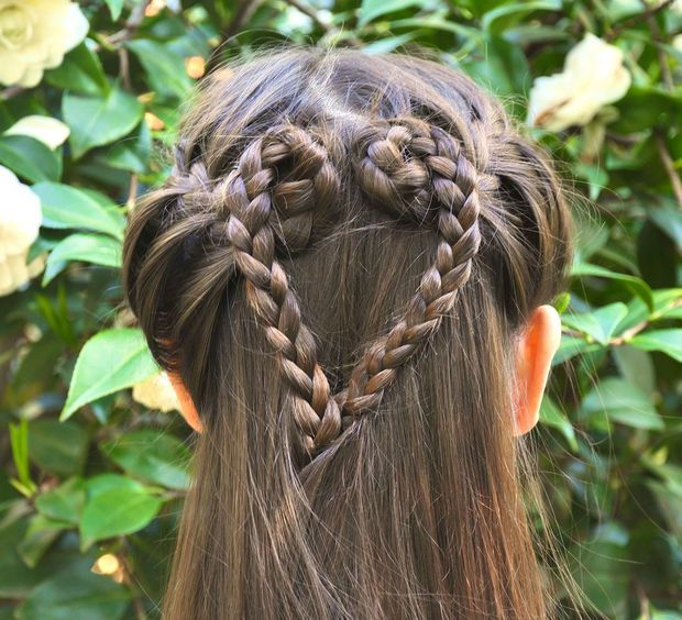 Picture of How to do a French Braid Heart Hairstyle - tutorial