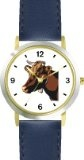 Reviews Guernsey Cow Head Animal - WATCHBUDDY® DELUXE TWO-TONE THEME WATCH - Arabic Numbers - Blue Leather Strap-Size-Children's  Special Prices - http://greatcompareshop.com/reviews-guernsey-cow-head-animal-watchbuddy-deluxe-two-tone-theme-watch-arabic-numbers-blue-leather-strap-size-childrens-special-prices
